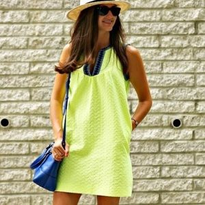 J Crew Neon Arrow Print Tunic Shift Dress 6P